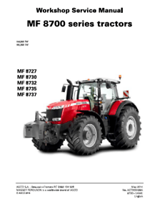 Massey Ferguson Tractor MF 8727 MF 8730 MF 8732 MF 8735 MF