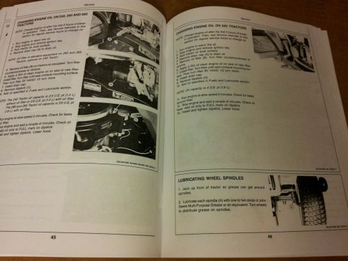 small resolution of john deere 240 260 265 285 lawn garden tractors ops manual omm71197 issue h7 for sale online ebay