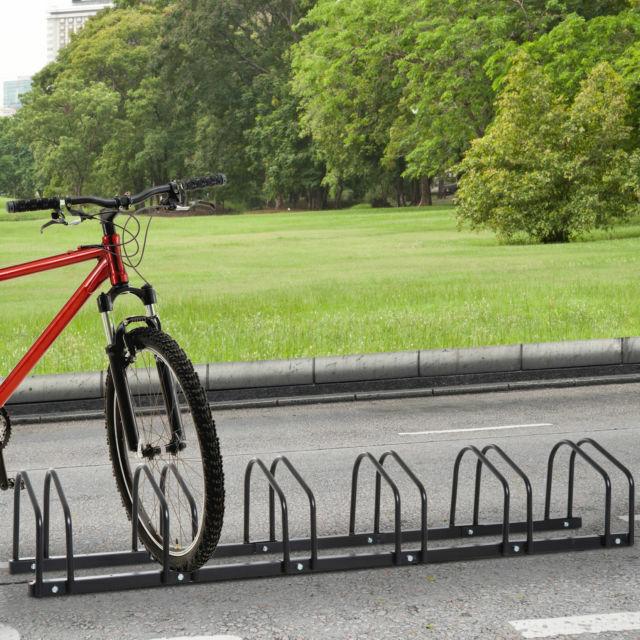 6 bike parking rack locking storage stand holder floor wall mount steel 40 21
