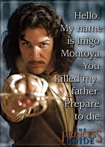 Magnet: The Princess Bride - My Name is Inigo Montoya for sale online