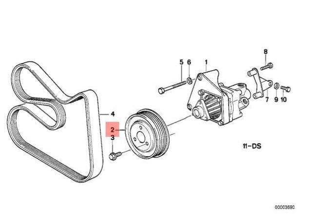 Genuine BMW E34 E36 Z3 Cabrio Coupe Steering Pump Pulley