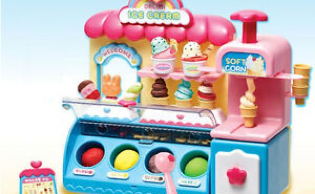 Ice Cream Shop Market Toy Accessories Color Clay Dough
