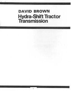 Case David Brown Tractors Transmission Repair Manual Hydra