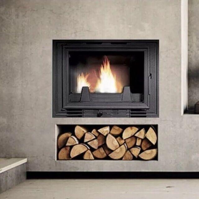 4 9kw Wood Burning Built In Fireplace Stove Woodburning Log Burner Fire Jet18bi For Sale Ebay