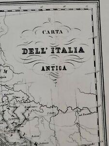 2019 new edition 1860 G. Bonatti map of Italy, entitled