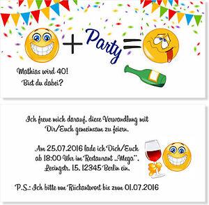 Details Zu Einladungskarten Geburtstag 30 40 50 60 Geburtstagseinladungen Witzig Lustig