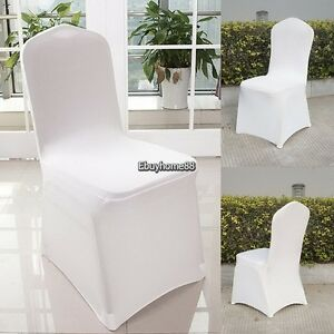 spandex banquet chair covers for sale armchair slipcover patterns 300pc white flat front lycra cover image is loading