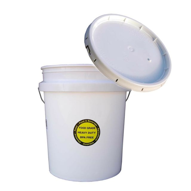 COMMERCIAL PLASTIC BUCKET LID 5 Gallon All Purpose Food Grade Paint Storage 2