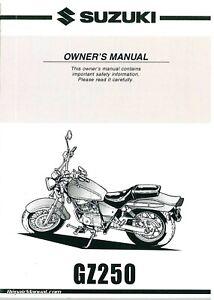 1999 2000 2001 Suzuki GZ250 Marauder Motorcycle Owners