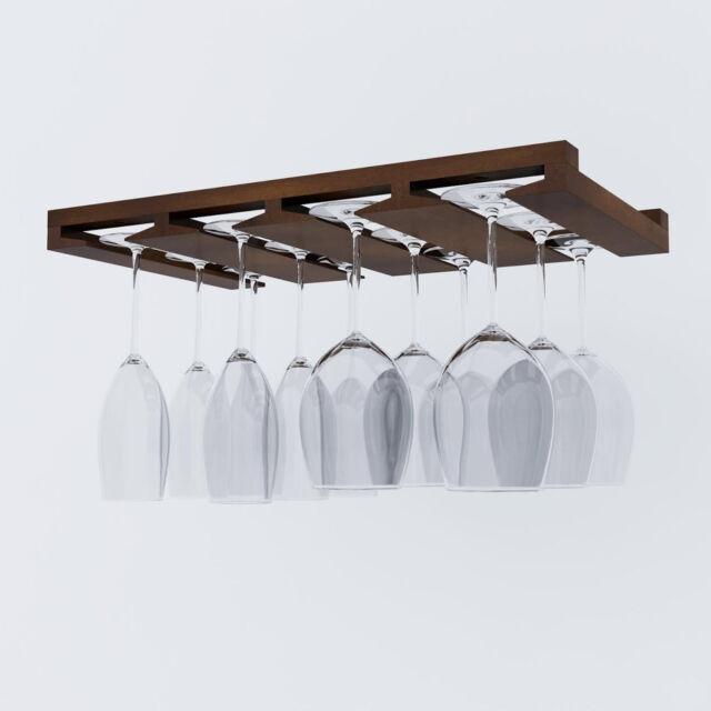 wine glass rack under cabinet stemware