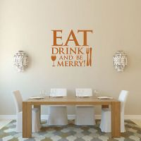 Eat Drink and Be Merry Wall Sticker for Kitchen and Dining ...