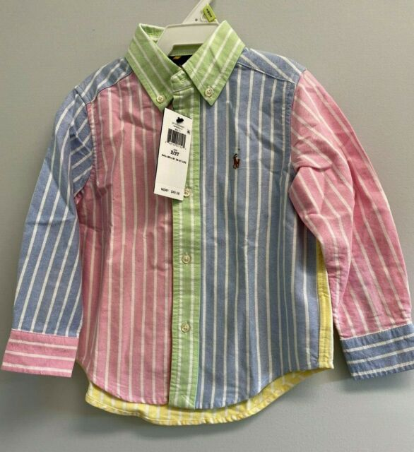 Polo Ralph Lauren Toddler Boys 2/2t Cotton Shirt Blue for sale online   eBay