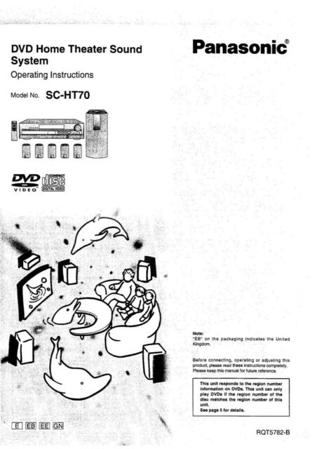 Panasonic SC-HT70 Home Theater System Owners Instruction