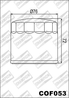 COF053 Oil Filter CHAMPION Ducati 1198 Diavel Titamium