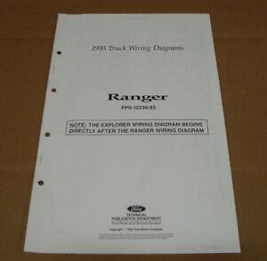 1993 Ford Ranger pickup truck wiring diagram SHEET service manual | eBay