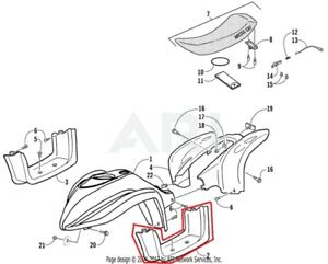 NEW OEM ARCTIC CAT YOUTH ATV 90 Y-12 LEFT SIDE FOOTWELL
