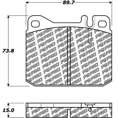 Disc Brake Pad Set fits 1972-1980 Mercedes-Benz 450SEL