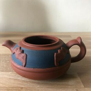 Lovely Chinese Yixing Teapot with Bats Decoration Signed