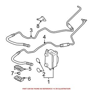 For BMW Genuine Transmission Oil Cooler Line Bracket Lower