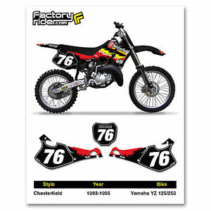 1993-1995 YAMAHA YZ 125 250 Custom Number Plates by Enjoy