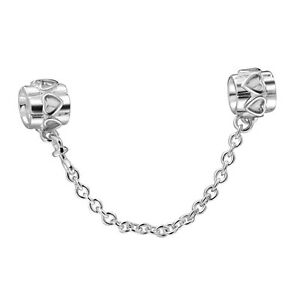 925 Sterling Silver Genuine Safety Chain Style Bead Charm