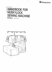 Husqvarna Viking Huskylock 1002 User Owners Manual Reprint