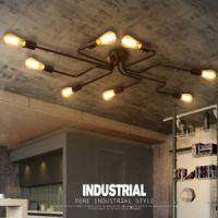 Industrial Vintage Ceiling Chandelier Lighting Steampunk ...
