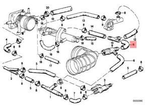 Genuine BMW E28 E30 Cabrio Coupe Sedan Vacuum Control Hose