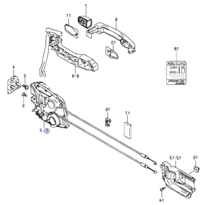 Genuine Suzuki SWIFT 05-11 5 DOOR Latch Lock Mechanism