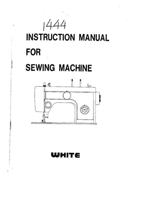 White W1444 Sewing Machine/Embroidery/Serger Owners Manual