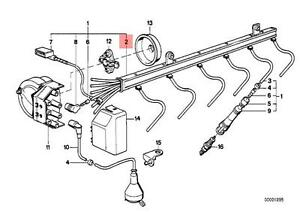 Genuine BMW E31 E32 E38 Coupe Sedan Ignition Wiring Tube