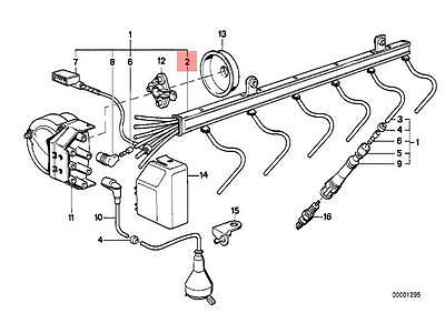 Genuine BMW E31 E32 E38 Coupe Sedan Ignition Wiring Tube