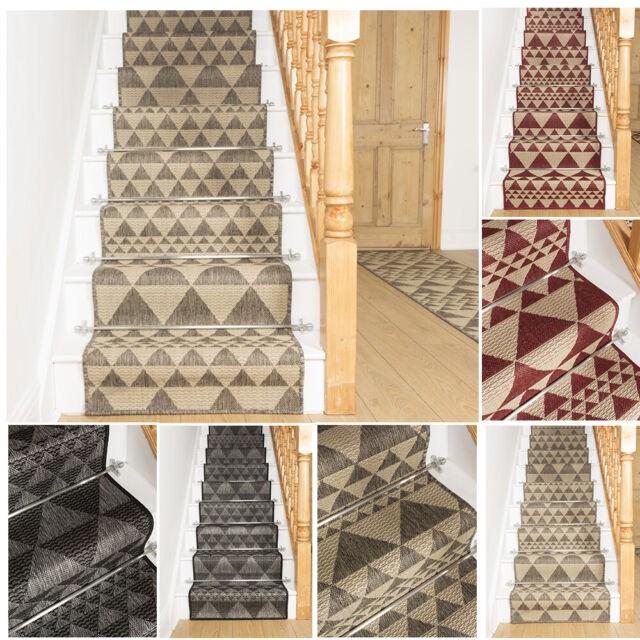 Extra Long Red Tweed Black Stair Staircase Runner Carpet Mat For   Tweed Carpet For Stairs   Adam   Modern   Mustard   Hard Wearing   Wool