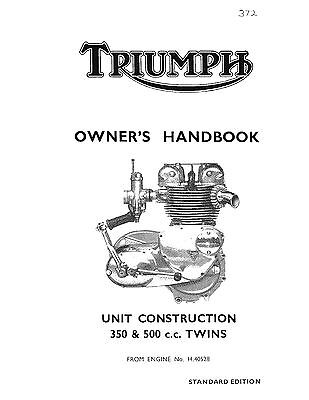 Triumph Owners Manual Book 1966 Twenty One 3TA & 1966