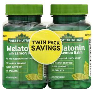Finest Nutrition Melatonin 10 mg with Lemon Balm 120 ...