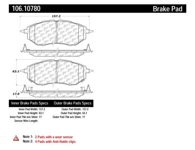 StopTech Disc Brake Pad for 05-17 Subaru Legacy & Tribeca