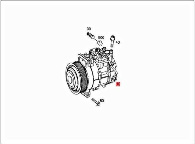 AC Compressor 204 Type C350 Fits 13 MERCEDES C-class for