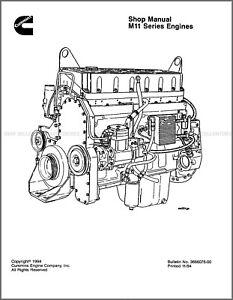 Komatsu Cummins M11 Series Engine Printed Service Repair
