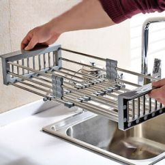 Kitchen Drainer Basket Rustic Painted Cabinets Sink Storage In945 Dish Drying Rack Holder Image Is Loading
