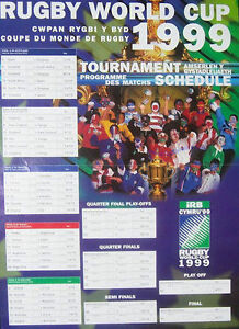 Coupe Du Monde Rugby 1999 : coupe, monde, rugby, RUGBY, WORLD, POSTER, TOURNAMENT, SCHEDULE