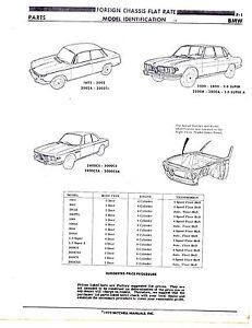 BMW 1602 2002 A TII 2500 2800 A CS 3000 3.0 SUPER CHASSIS