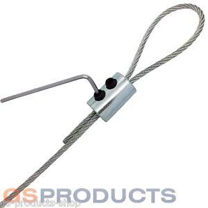 2mm-3mm BZP Steel Wire Rope Loop Clamp Grip DIY Eye Let