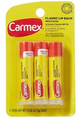 Carmex Lip Balm Original SPF 15 3x0.15oz 3 Pack ...