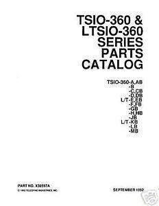 Continental Io 360 Parts Manual