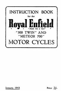 (1009) Royal Enfield 1953 500 Twin & Meteor 700