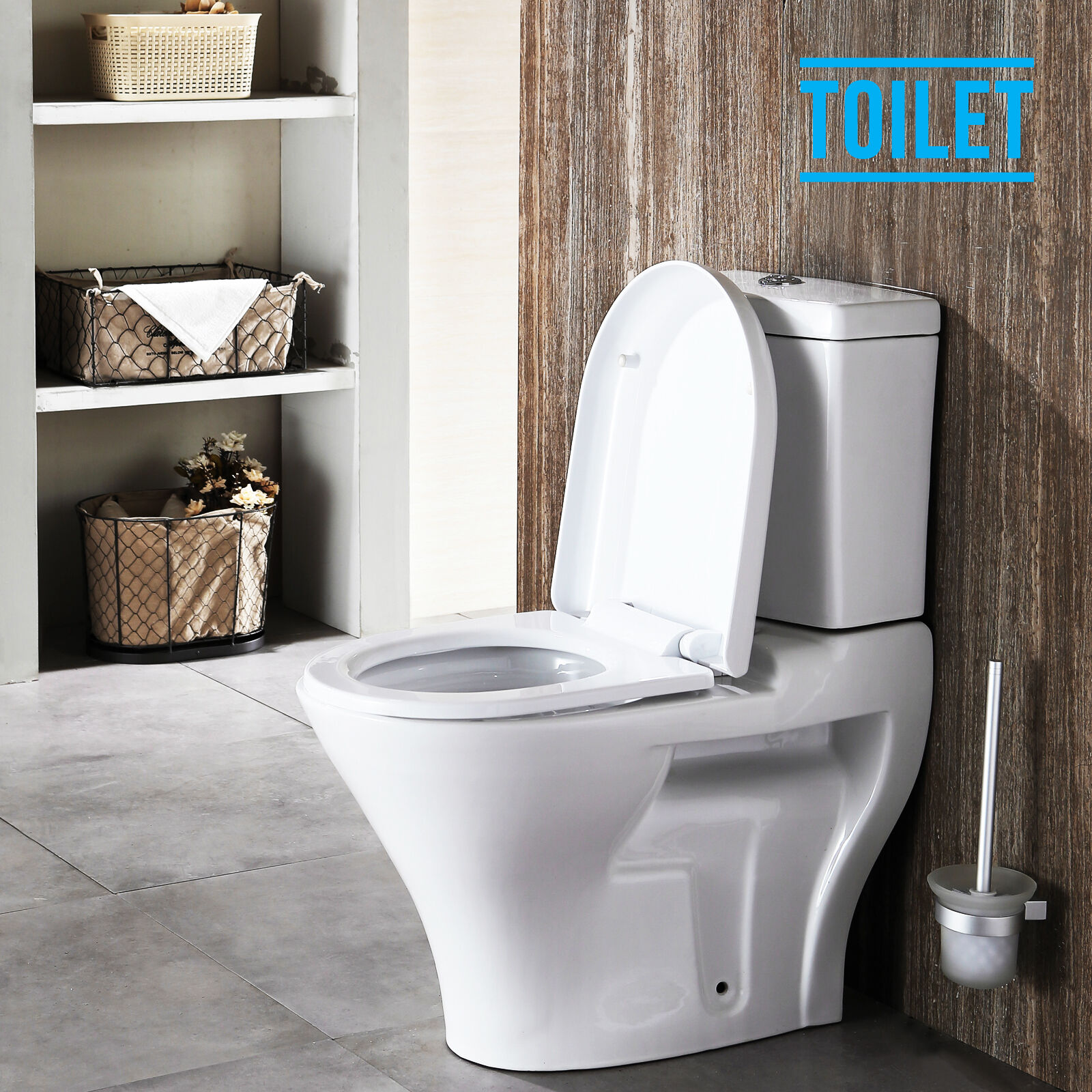Chair Height Toilets Close Coupled Toilet Ceramic Pan Cistern Soft Height Close