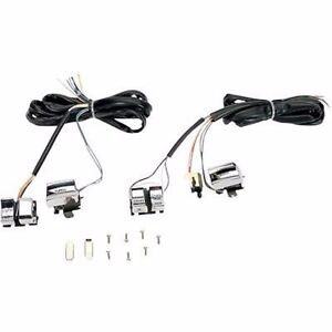 CHROME HANDLEBAR WIRING HARNESS SWITCHES HARLEY DYNA