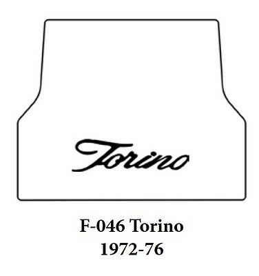 1972 1976 Ford Torino Trunk Rubber Floor Mat Cover with F