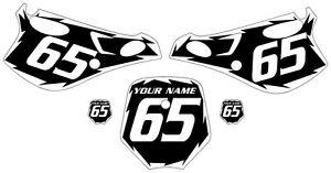 Fits KTM 65 SX 1998-2001 Pre-Printed Black Backgrounds
