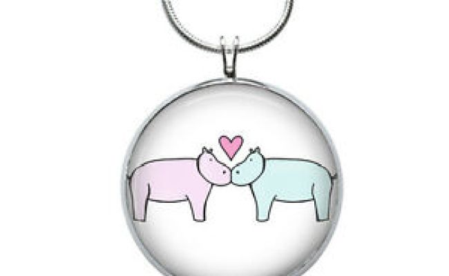 Hippo Love Necklace Animal Gift Gifts For Her
